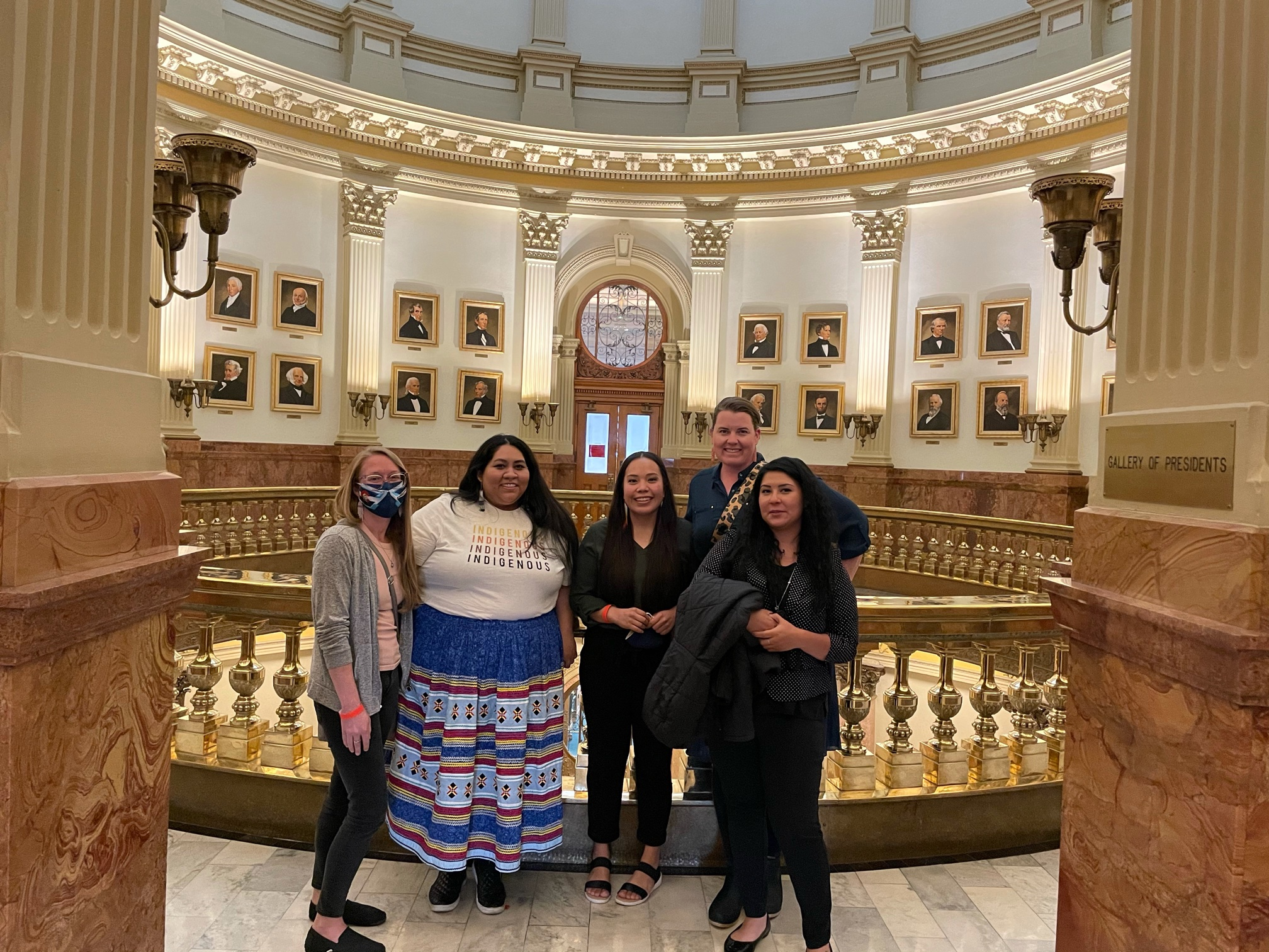 DIFRC Staff inside the Colorado State Capitol