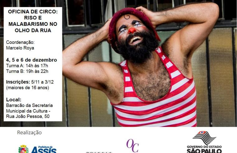 Secretaria Municipal de Cultura abre inscrições para oficinas de circo em Assis