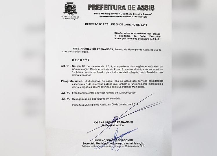 Expediente dos serviços municipais e do comércio será alterado na quarta-feira devido ao jogo do Vocem
