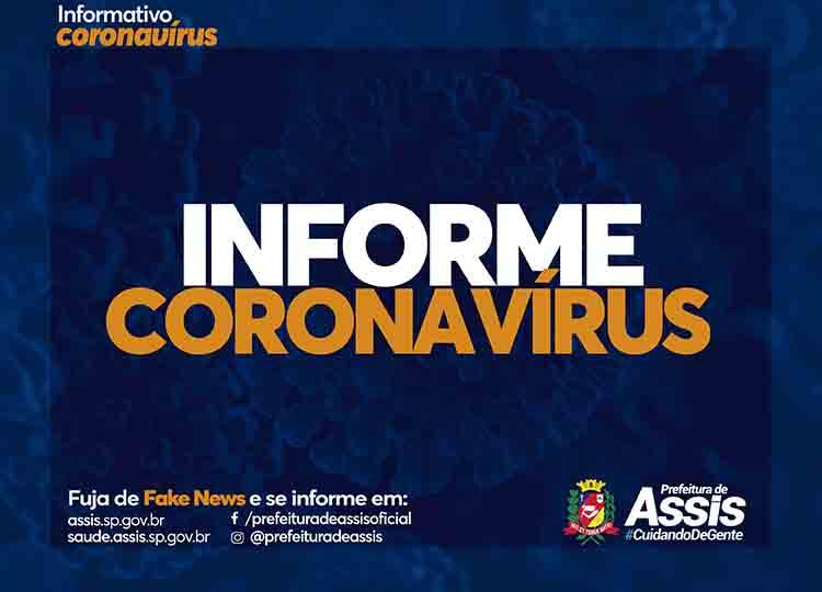Confira o Boletim Epidemiológico de Assis do COVID-19