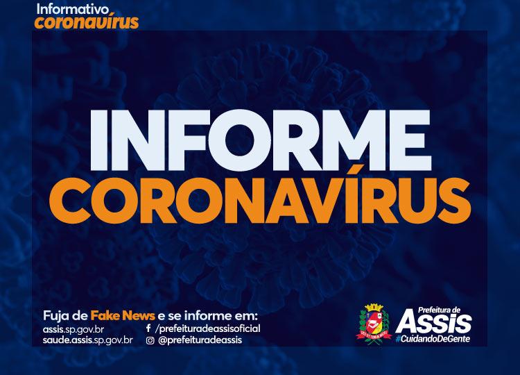 Assis contabiliza 156 casos positivos de COVID-19 e 433 negativos, além de 8 mortes