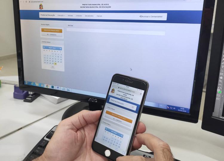 Parceria com a Vivo garante aulas online a alunos da Rede Municipal de Ensino