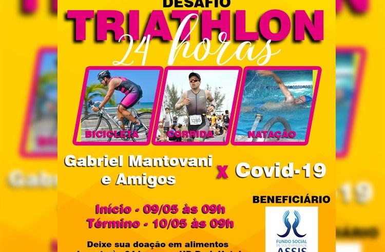 Desafio Individual de triathlon faz campanha para o Fundo Social de Solidariedade