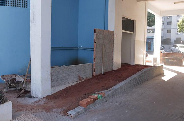 Obras para instalação de elevador no Paço são iniciadas