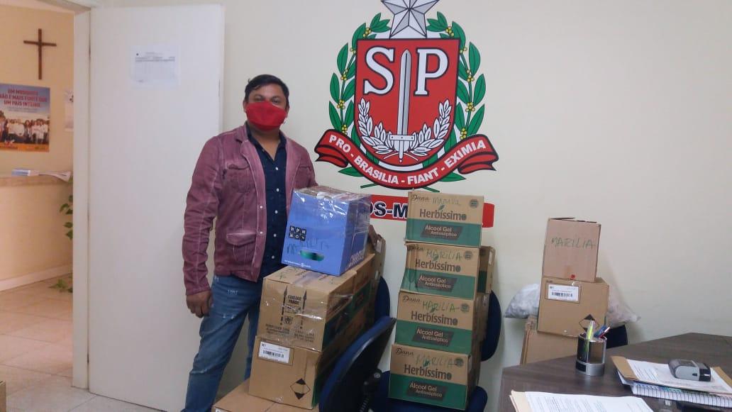 Frascos de álcool e máscaras serão distribuídos para a rede socioassistencial do estado