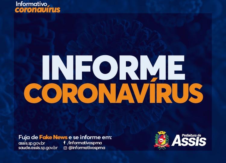 Assis confirma 24ª morte por COVID-19; 1.267 confirmados para a doença estão curados