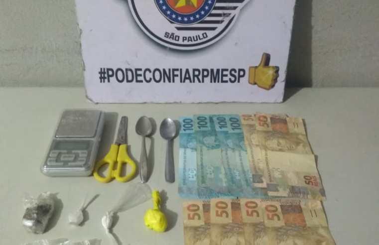 Delivery do tráfico: Homem é preso com maconha e cocaína em Paraguaçu Paulista