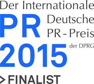 Logo des Internationalen Deutschen PR-Preis 2015 der DPRG. Quelle: DPRG 2015