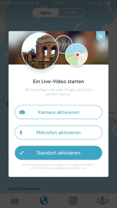 Screenshot der Periscope App