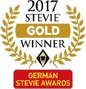 German Stevie Awards 2017 - Gold Winner Logo