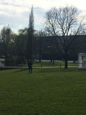 Etwas verwaist: der Drohnen Park auf dem Messegelände