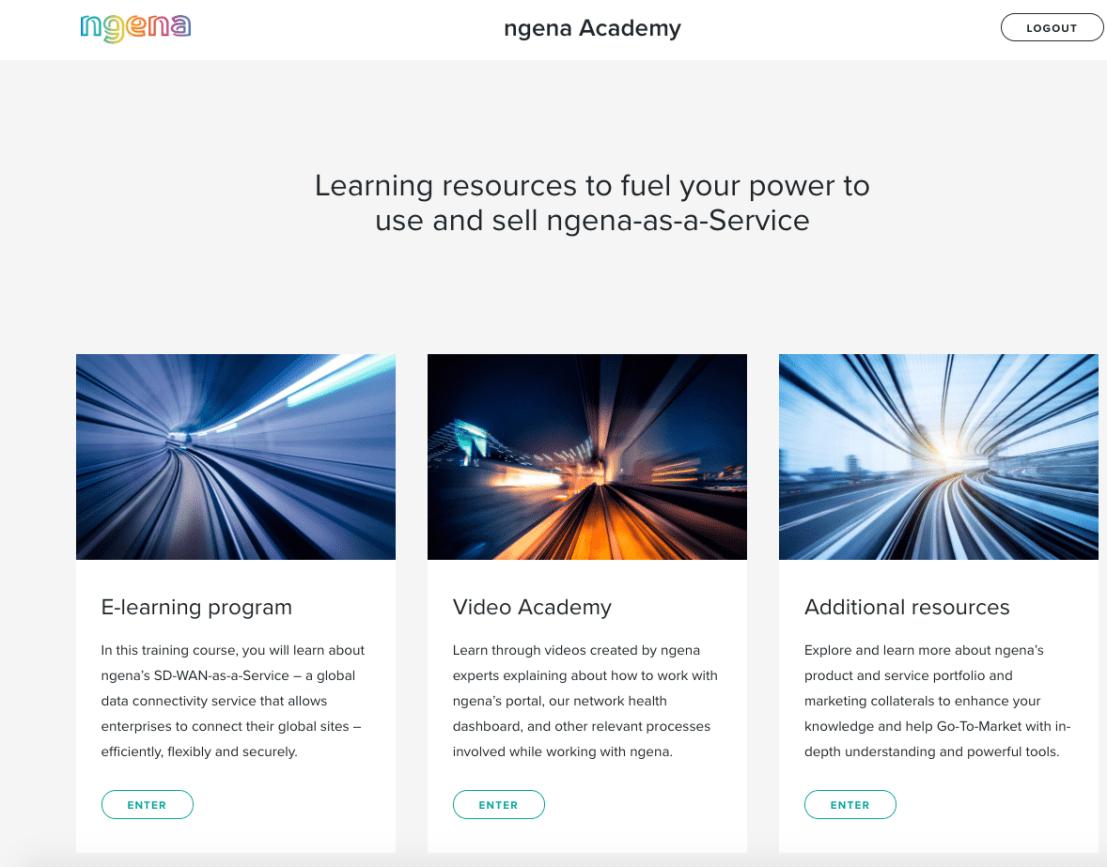 ngena Academy Homepage