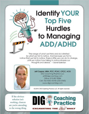 Identify Your Top Five Hurdles to Managing ADD/ADHD