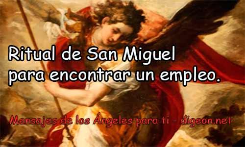 RITUAL DE SAN MIGUEL PARA ENCONTRAR UN EMPLEO