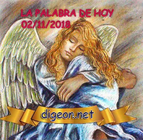 LA PALABRA DE HOY 02/11/2018