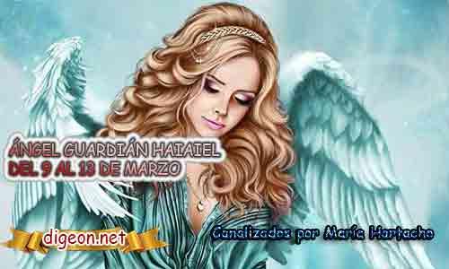 ÁNGEL GUARDIÁN HAIAIEL.Todo sobre el ángel guardian Haiaiel, lo que otorga, el salmo para invocarlo y el mensaje del ángel. Regente Del 9 al 13 de Marzo