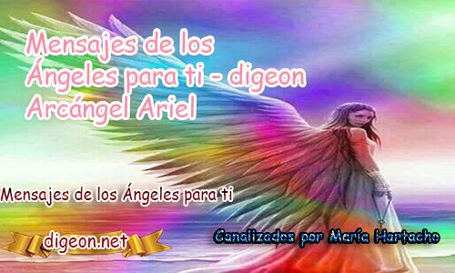 MENSAJES DE LOS ÁNGELES PARA TI - Digeon - 03/12/2018