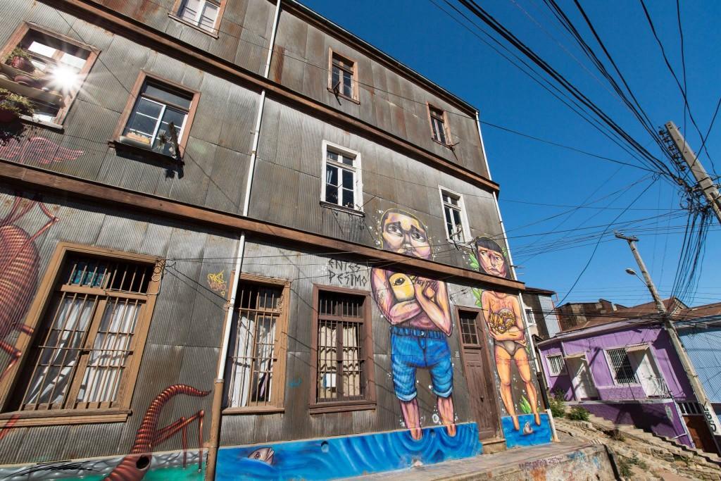 Arte urbano, Entes & Pésimo , Chile - Digerible