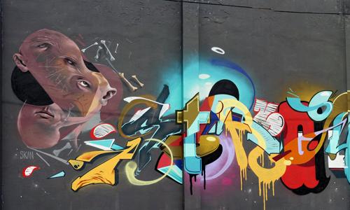 Ores, Phen, Mag1 & Skan, Poblenou, Arte urbano Barcelona, digerible