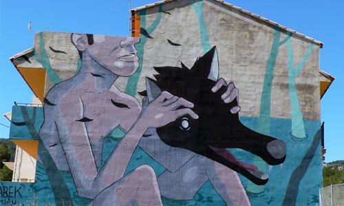 Sabek, arte urbano Fanzara, Valencia, Digerible