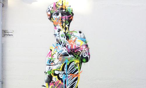 Martin Whatson arte urbano en Noruega, digerible