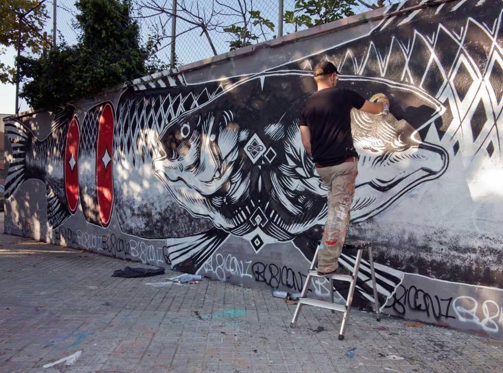 Rubicon1, arte urbano Barcelona