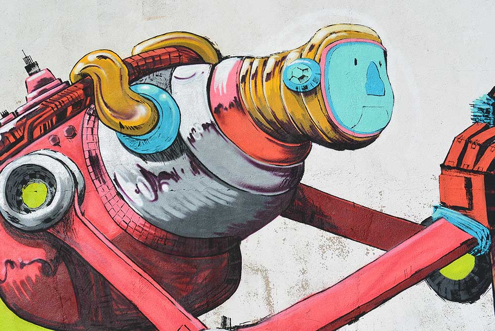 Xèlön Xlf. arte urbano, Cuenca, España