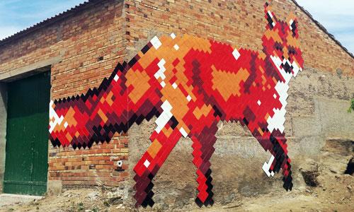 Run & Igansi Rosés arte urbano en el Gar-Gar Festival