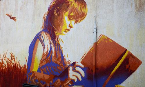 Roc Blackblock arte urbano en Manresa
