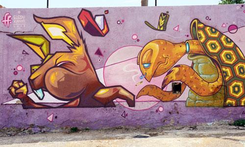 Kram y Eledu arte urbano en Manresa
