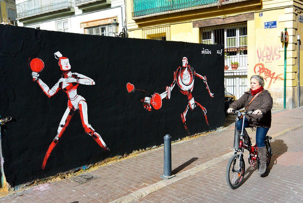 Xèlon Xlf arte urbano en Valencia, España