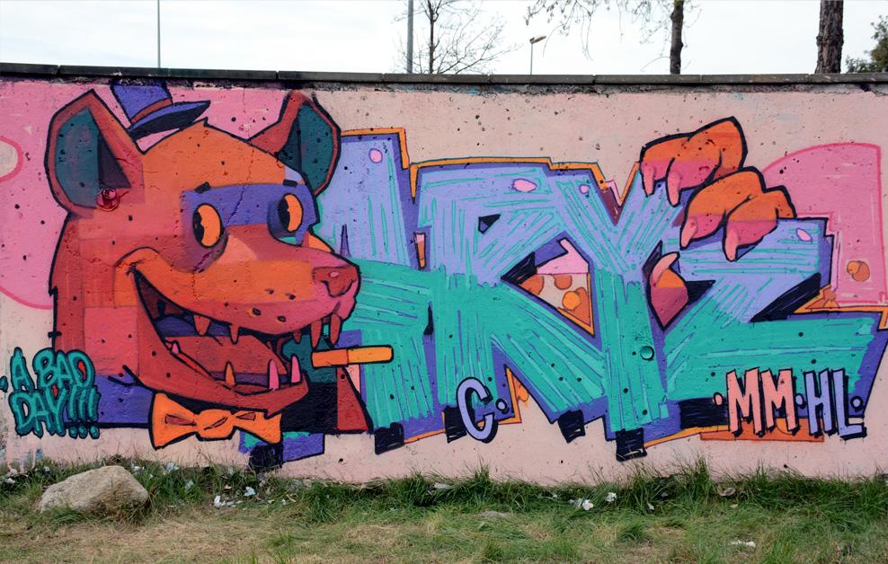 Graffiti colectivo en granollers arte urbano - Fotografos en granollers ...