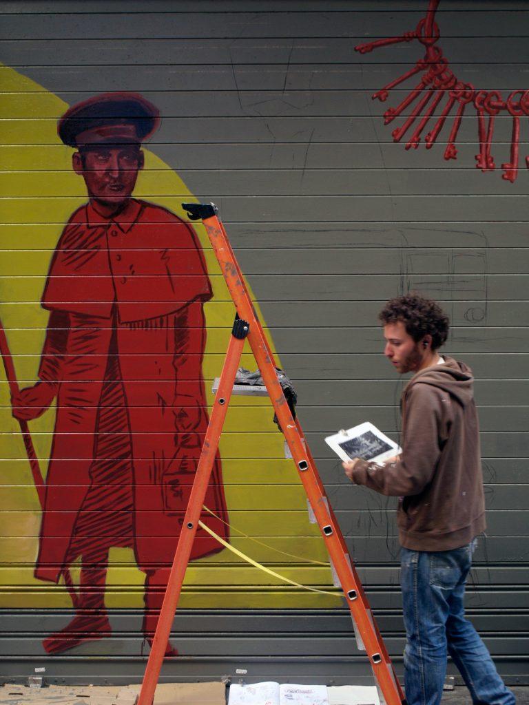 arte urbano en el barrio del Raval, Barcelona