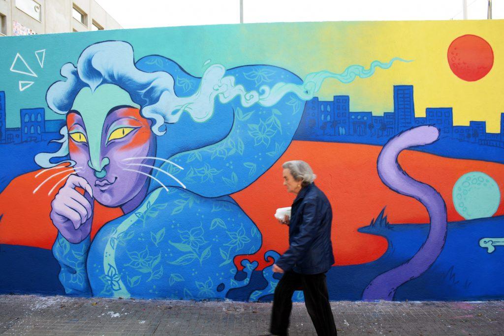 Arte urbano Maga illustration, Barcelona