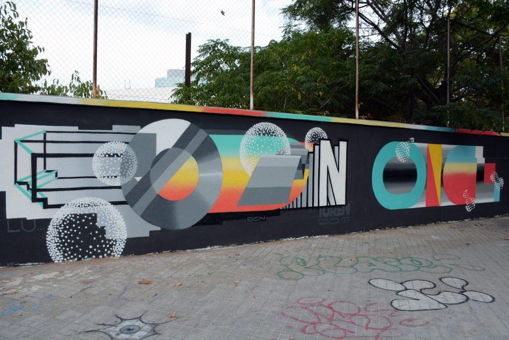 Dante Once Toren arte urbano Barcelona