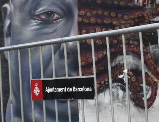 Arte urbano Sebastien Waknine & Sav45 Barcelona
