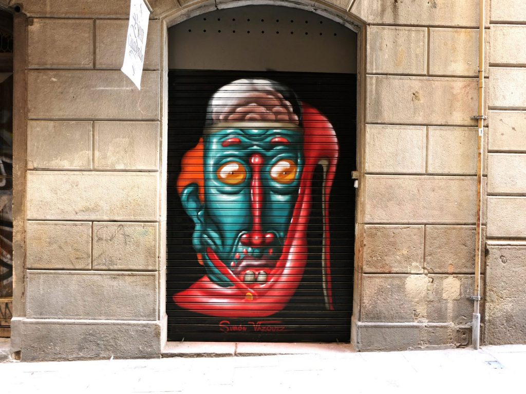 Arte urbano Simón Vázquez, galería de arte bisn cuadrado