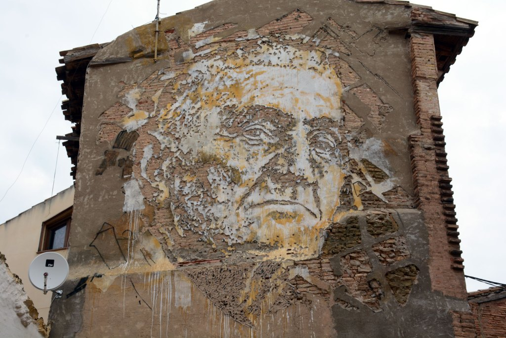 Arte urbano Vhils Tudela Spain
