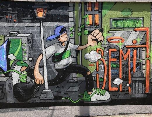 Arte urbano Bemie, Barcelona