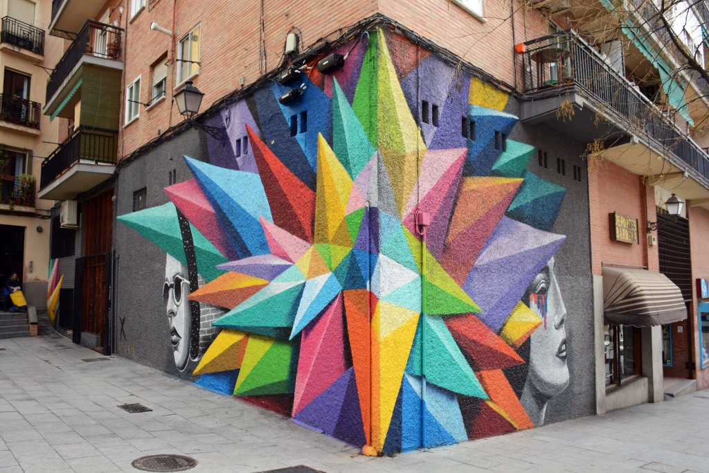 arte urbano, okuda, madrid