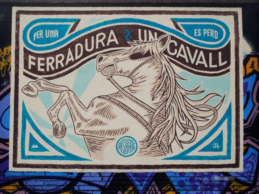 Arte urbano Reskate en Barcelona