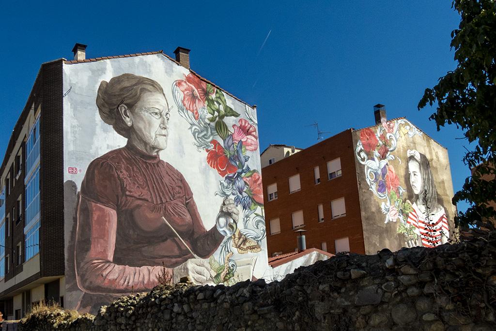 Lula Goce arte urbano Belorado