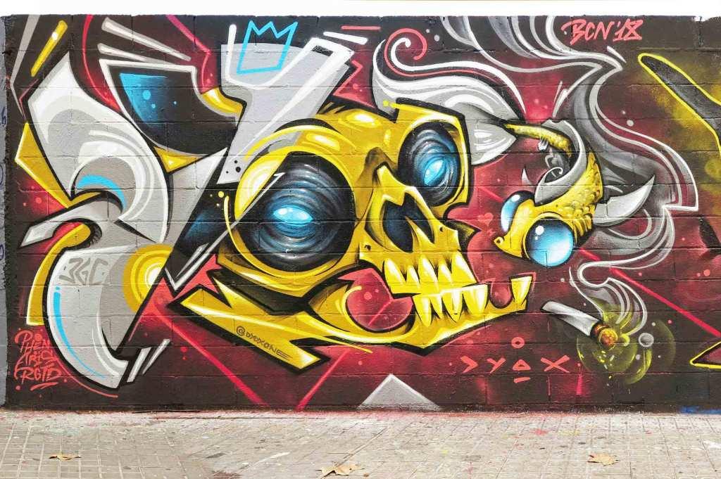 arte urbano Jotapaint YpsoInfarto DYOXOne, Barcelona