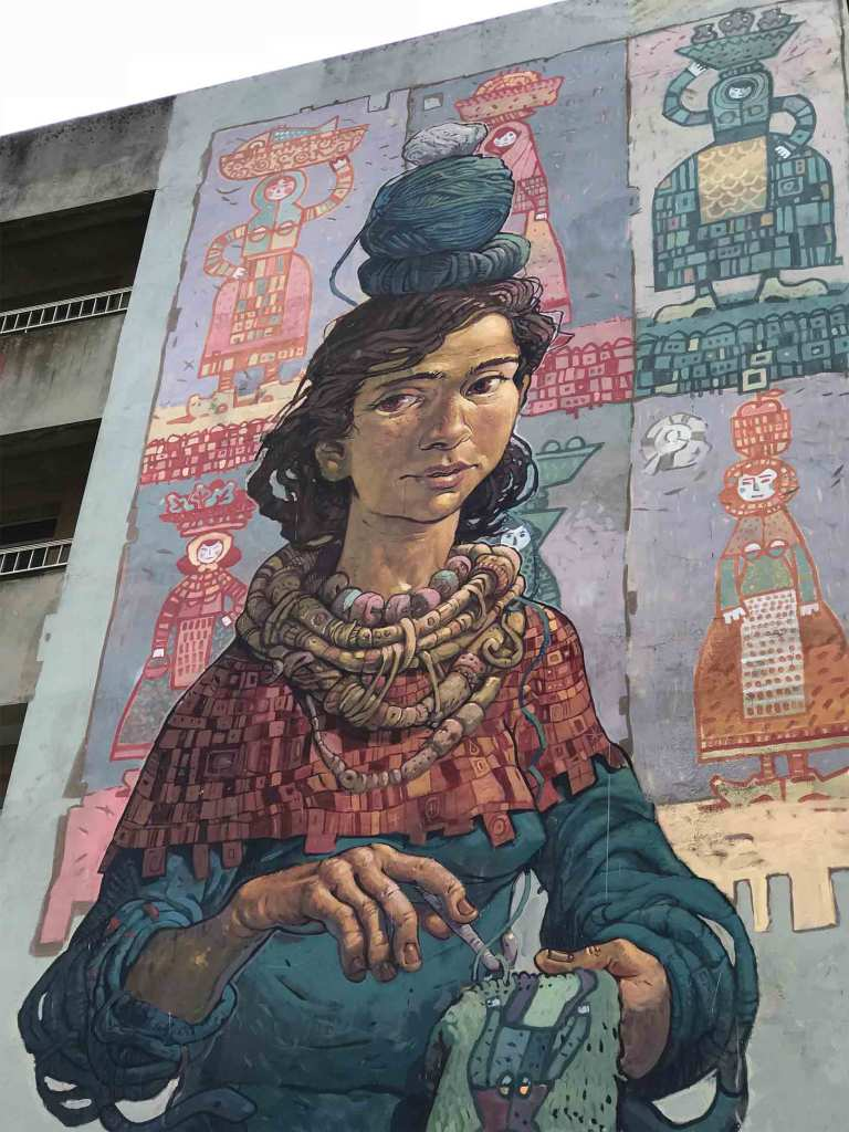 Arte urbano Miguel Peralta, Carballo, Galicia