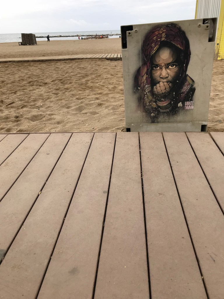 arte urbano Guate Mao, Barcelona