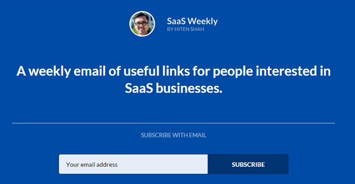best email newsletters SaaS