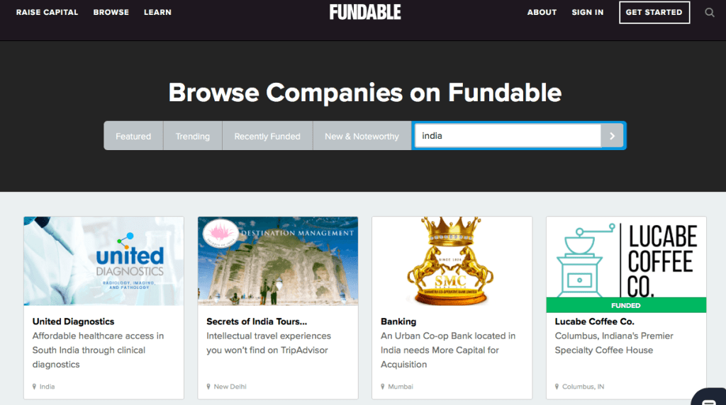 crowdfunding sites in india Fundable