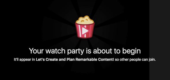 Facebook watch party - 1