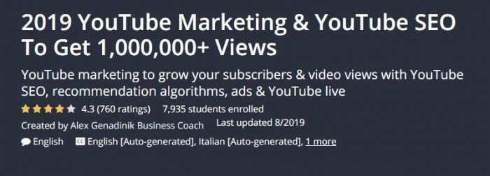 Free youtube marketing course