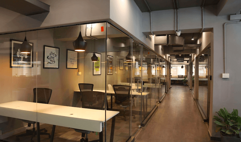 Hashden coworking space in HSR Layout